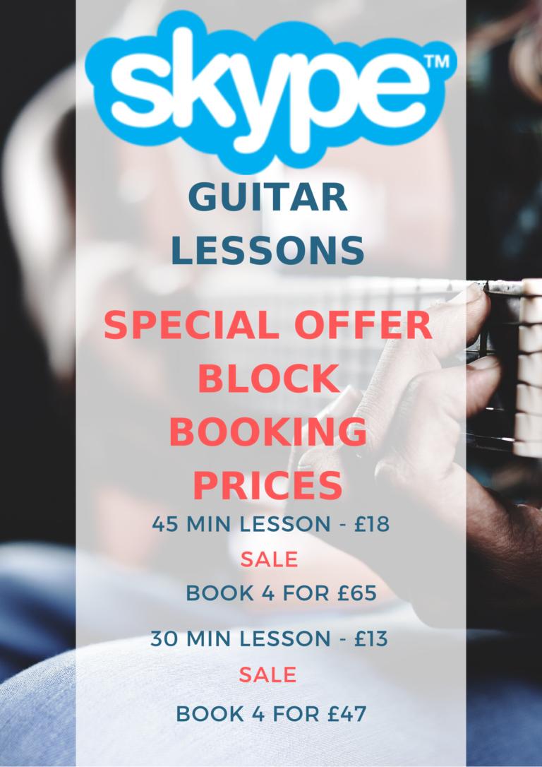 Online Skype Guitar Lessons